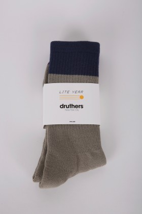 DRUTHERS X LITE YEAR EVERYDAY ORGANIC COTTON CREW SOCK