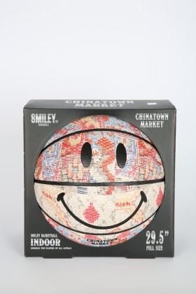 CHINATOWN MARKET SMILEY PATCWORK RUG BASKETBALL
