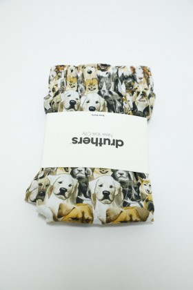 DRUTHERS ORGANIC COTTON WATERCOLOR DOGS BOXER SHORTS